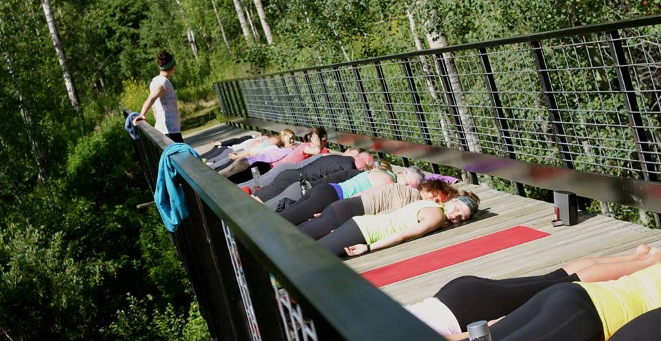 Savasana on the bridge