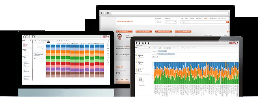 Telas web para Transpromo Analytics