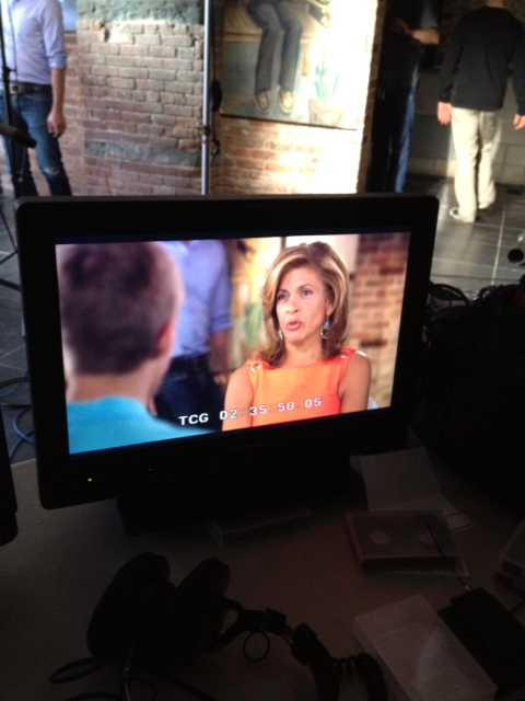 Hoda interviewing