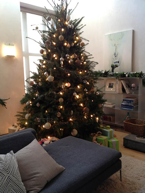 Big Real Christmas Tree in Third Floor Living room
