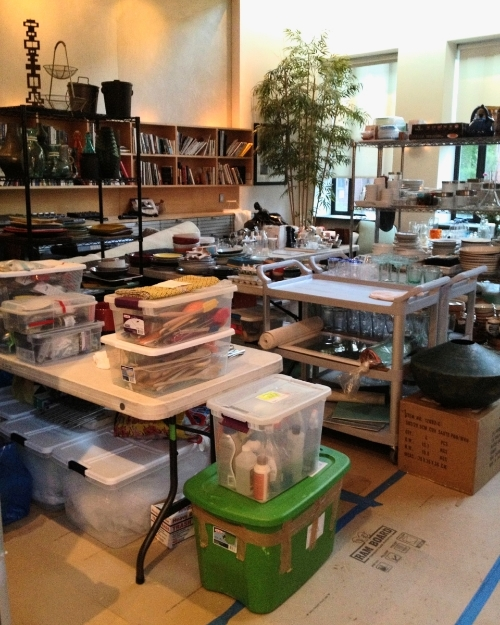 Kitchenware storage--The BMS living room