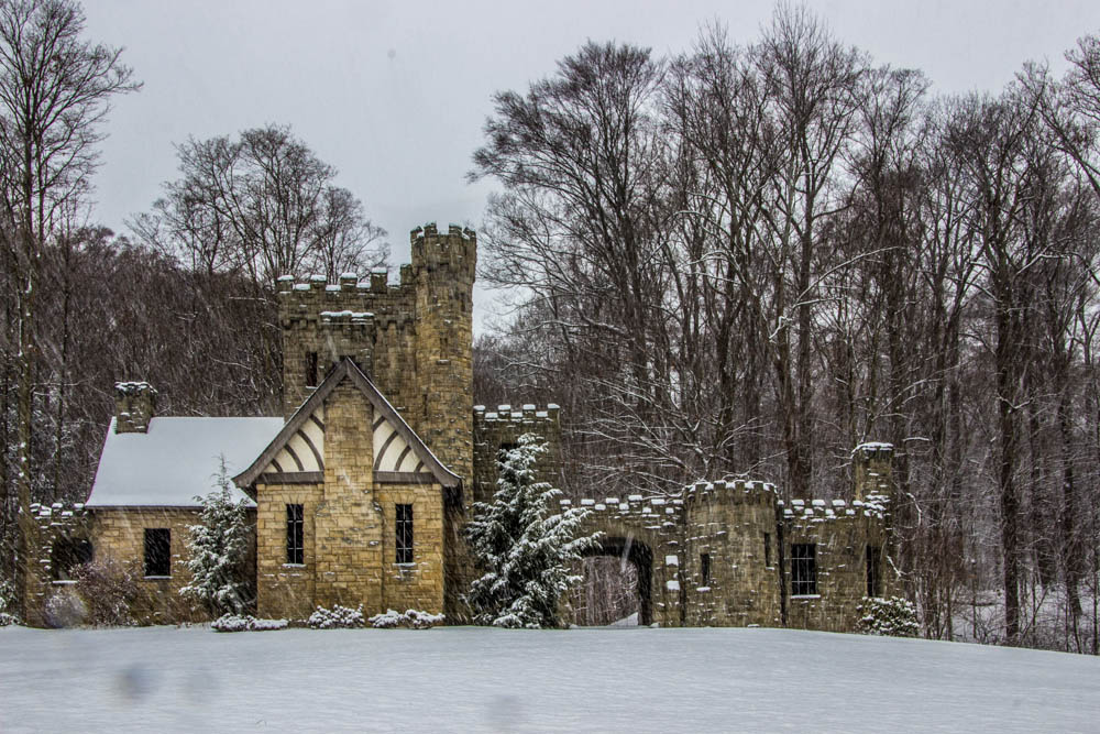 Squires Castle in winter