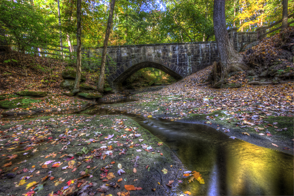 Olmsted Falls Bridge in Fall