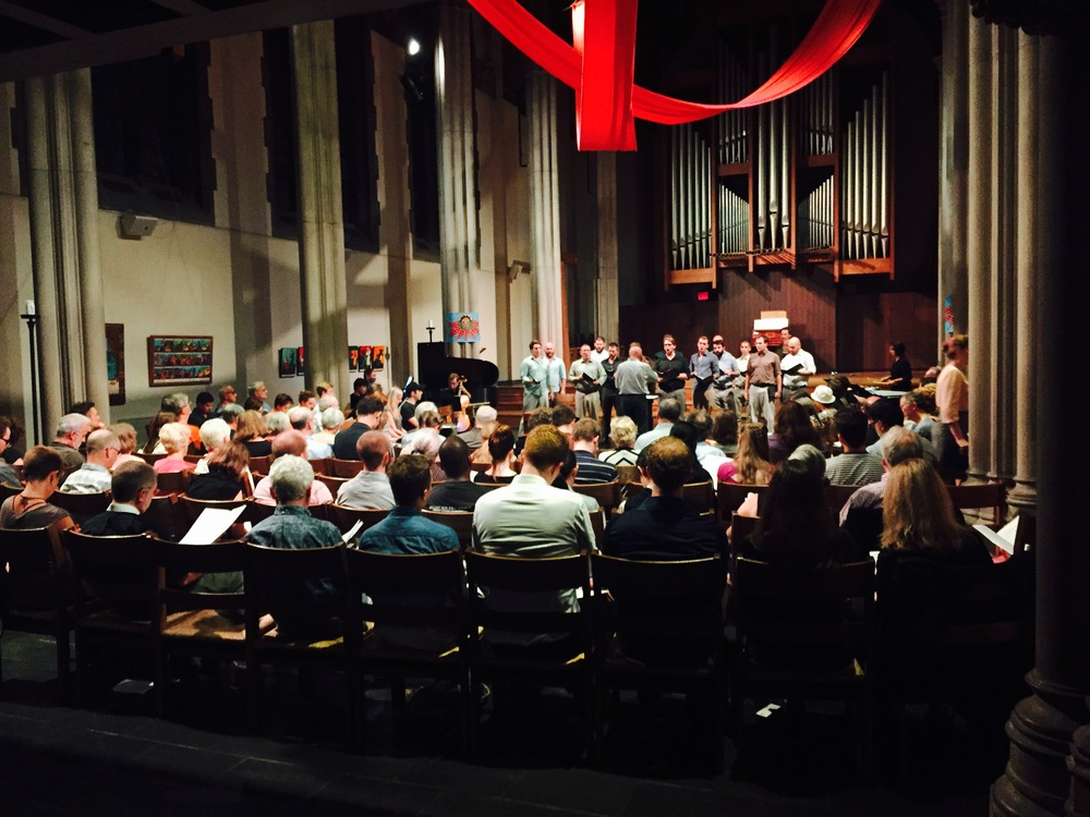 Bonhoeffer performance by Donald Nally and The Crossing at James Memorial Chapel, Union Theological Seminary, New York, September 12, 2015.