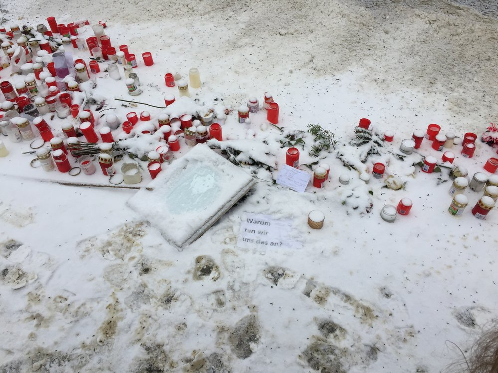 Breitscheidplatz memorial to the victims of the Christmas Market attack of December 2016.