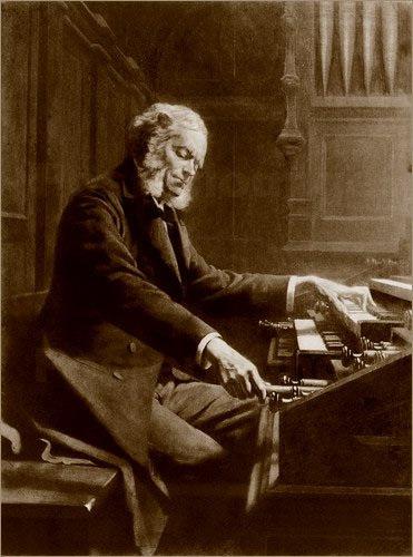 César Franck at the organ (1885 photo)