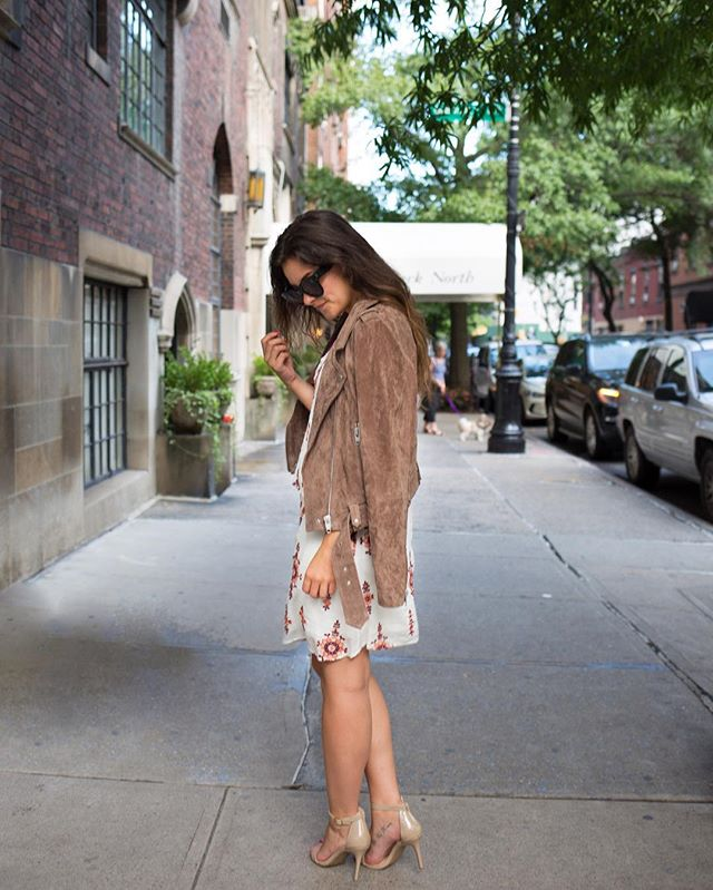 Cooler temps in NYC have me itching for true Fall😍🙊 // Now let's talk about this look, shall we? My dress is only $52 (!) and can easily be worn now and later🎉 My suede moto jacket is going to be THE piece I reach for every day once the temps really drop...I just know it😁😏 You can shop my entire look by signing up for @liketoknow.it and getting details sent to your inbox or typing this case-sensitive link into your browser: http://liketk.it/2p3c7 #liketkit #ltksalealert #ltkunder100 #ltkstyletip #fall #inspiration #nyc #ootd #realoutfitgram •• 📷 by @simple_schiller