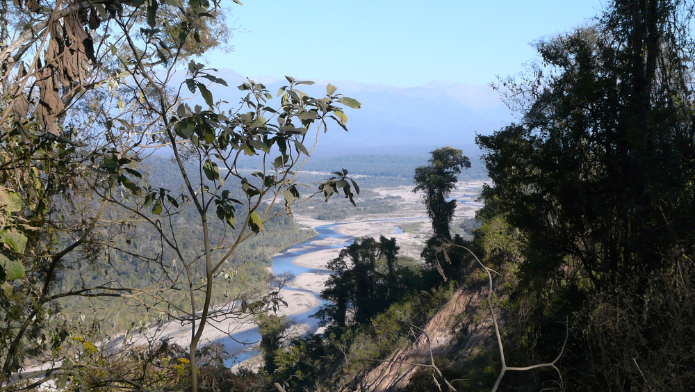 A view of the Iruya river from the Andean foothills about 25 miles northwest of Orán, Argentina.