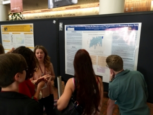 Kelly Moolick  presenting her work at the ASM meetng to a big crowd!