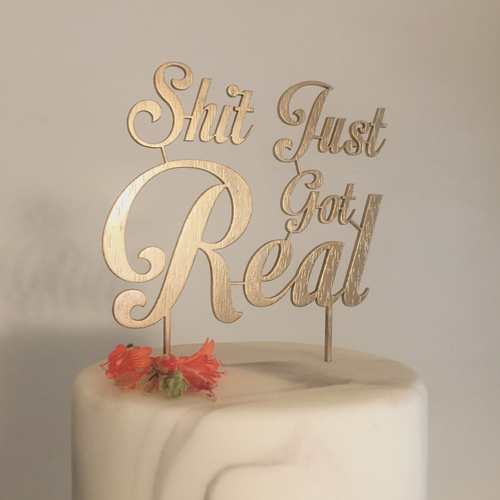 real wedding cake topper the mill