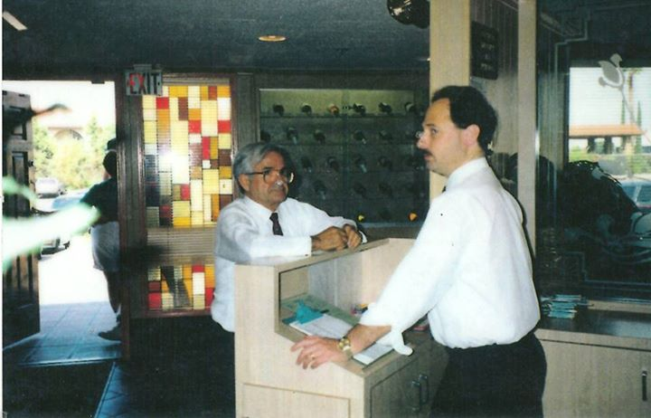Frank and Steve on opening day: August 3rd 1983. Steve Cooper (Left) Pictured with Frank Kundanis co-owner and operator from 1988- until his passing in 2007.  Frank's legacy as a hardworking and moral businessman is still a large part of Kenos to this day