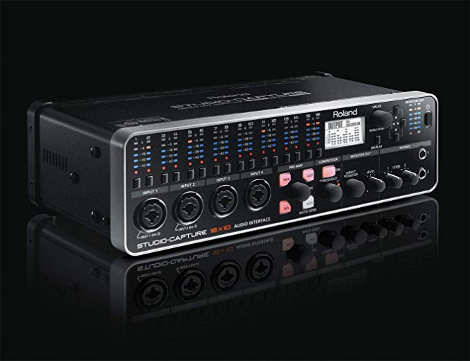 """Roland-Studio Capture Review - I've been looking for a long time for an interface that made sense for my setup. I was never able to get everything I wanted until I found this unit. It is robust, sounds amazing, has MIDI, lots of flexibility, lots of inputs/outputs, and it is still very compact. Its easy enough to use given its power. If you like having everything plugged in like I do but don't want a rack unit taking up a lot of space (yes this unit can be rack-mounted if you desire) then this may be the perfect unit for you. It was the perfect find for my current studio. It is the heart of my studio and is a class act recording interface.Here are the specs.16 audio inputs and 10 audio outputs, including 12 premium mic preamps (VS PREAMP)16 XLR / ¼"""" TRS combo inputs10 ¼"""" TRS outputsHigh-performance USB 2.0 audio interface for studio and mobile productionVS STREAMING delivers ultra-stable, low-latency driver performance for Windows and MacAUTO-SENS intelligently sets optimal input levels for all preampsIndividual input/output meters and input channel buttonsFour independent, software-controlled monitor mixesExpand your I/O by using two STUDIO-CAPTUREs together, both controlled with a single driver2U rackmount ears includedIf you are interested in purchasing one of these bad boys I have included a link below where you can get it from Amazon.https://amzn.to/2Puytpz"""