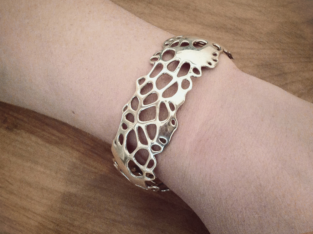 The Hybrid 3D Bangle, one of several designs now available in our store