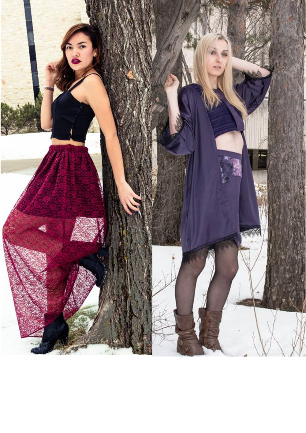 Model left: Kiara Rabbitskin  Model right: Melissa Cheetham  Photographer: Zohaib Parvez