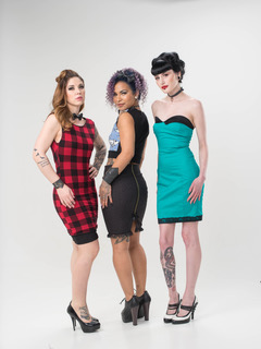 Photographer: Studio Chel  Hair: Erika Tucker and Mel Corkum -Alchemy  MUA Jennilee Cardinal -Schultz - Green Tree Beauty  Model : Catherine Cameron, Tramaine Miles, Kendra Johnson