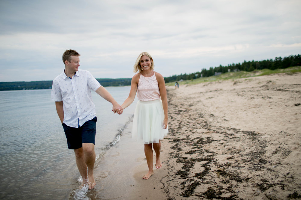 We had our engagement photos shot in Northern Michigan!