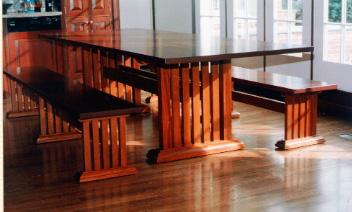 Craftsman Trestle Table U0026 Benches