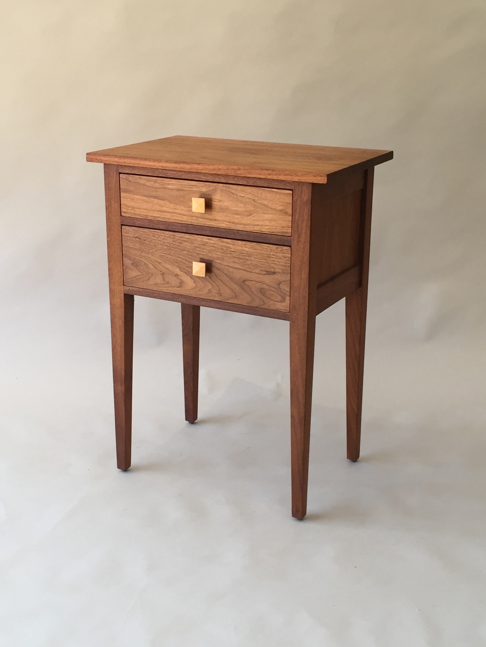 Two Drawer Shaker Sidetable