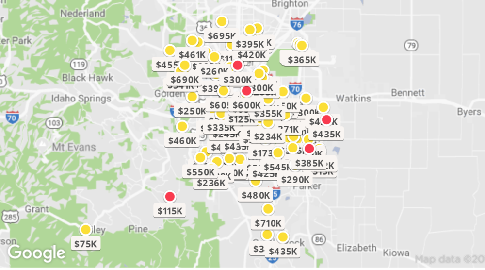 Map provided by Zillow® and Google® - data 2019