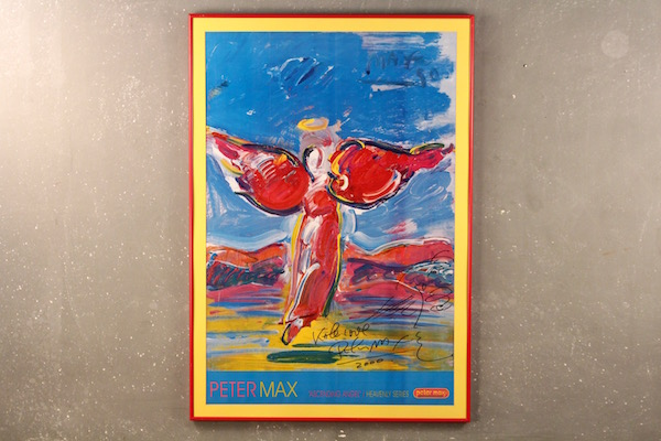 "Signed Peter Max ""Ascending Angel"" poster"