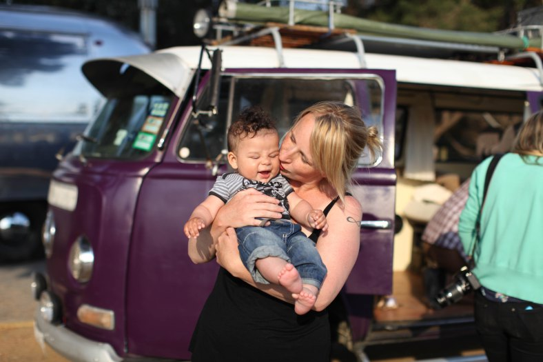 Kombi and kids