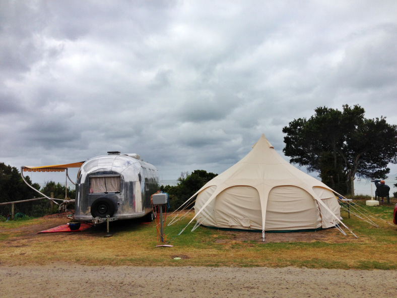 1966 Trade Wind + Lotus Belle tent