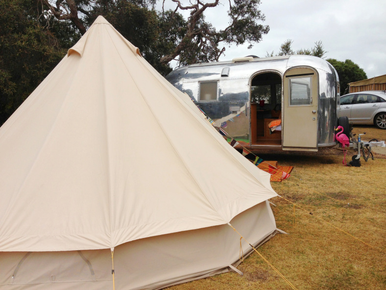 1964 Bambi II + bell tent