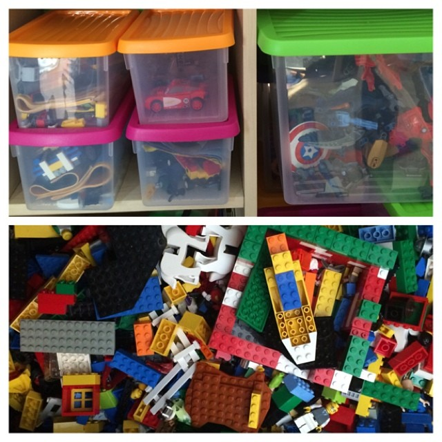 So I think there are two type of lego people. One group is my husband's group and keep everything in sets all organised (top pic) and the other group is like me and prefers a big box of loose lego (bottom pic). Which do you fall in? Is there a third group?