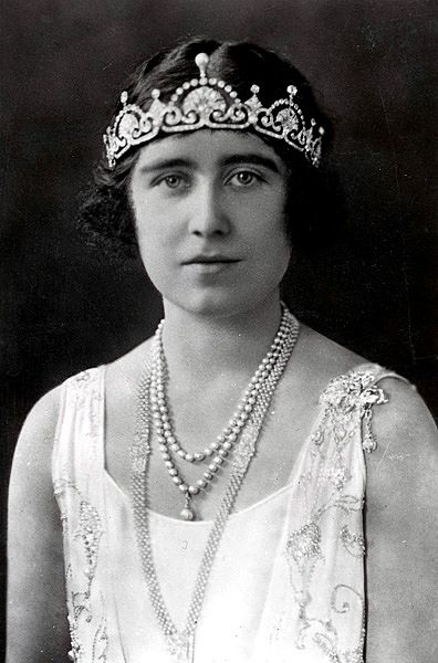 """The Queen Mum in the Lotus Flower Tiara, c. 1920"""