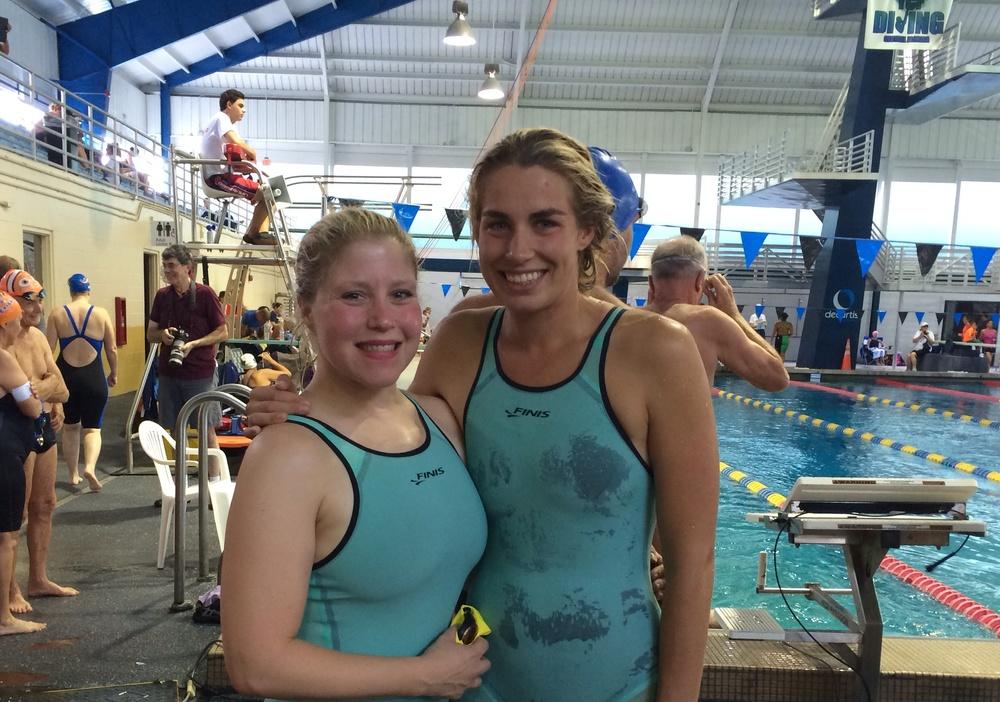 Coach Retta and Estonian FINIS athlete, Merle Liivand