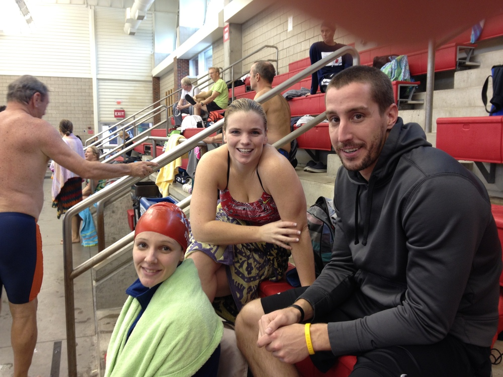Alex, Brad, and Amanda strategizing in between events
