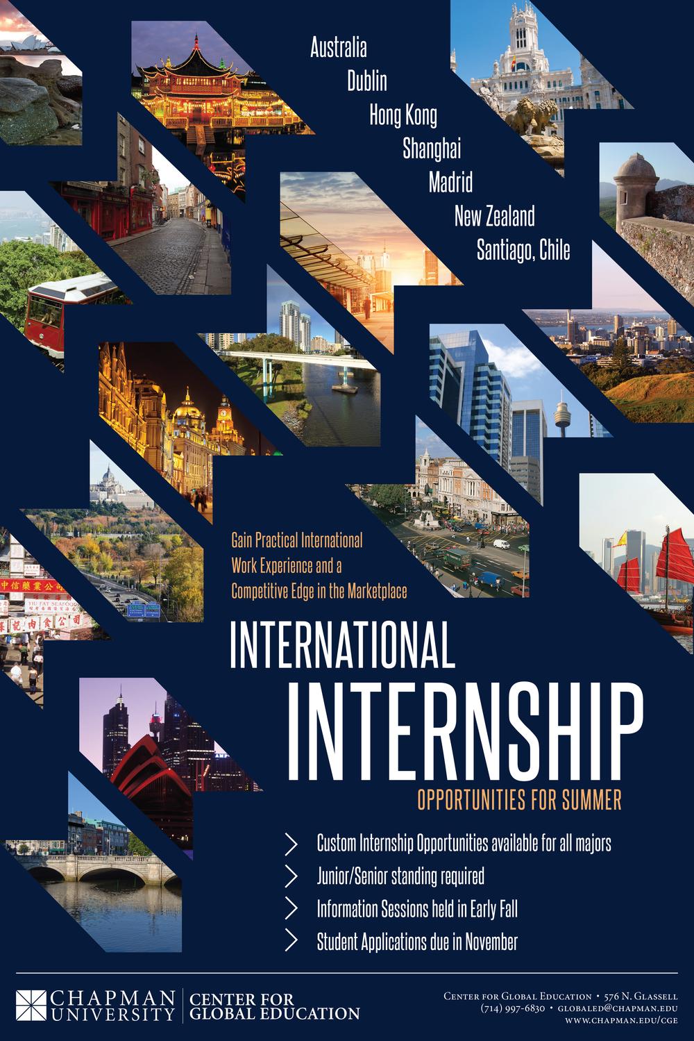 International Internship Poster