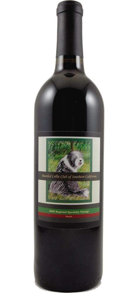 Bearded Collie Club of Southern California Custom Wine Label