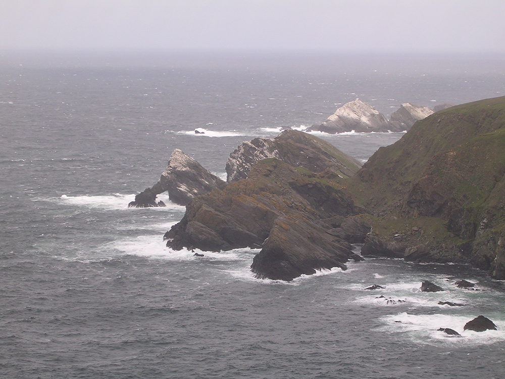 Rocky coastline in northern Shetland.  (Image by Emily Benson)