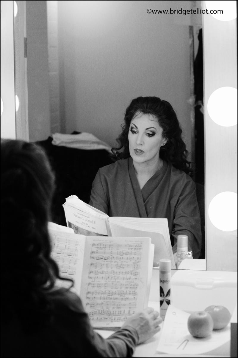 Soprano Cheryl Barker in her dressing room, Sydney Opera House
