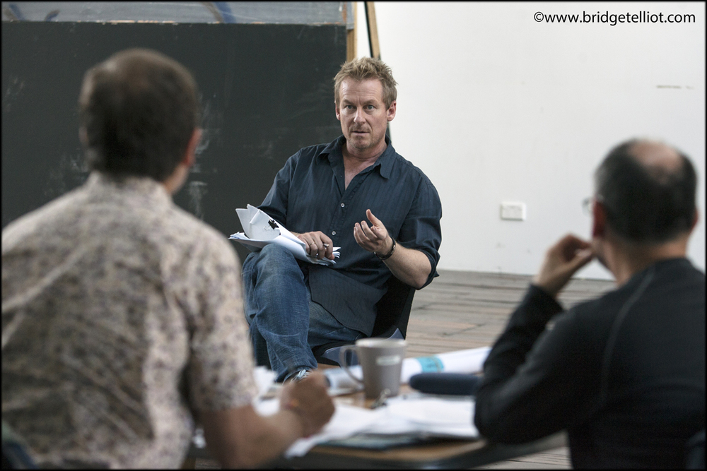 Richard Roxburgh (centre) in rehearsal with Belvoir St Theatre