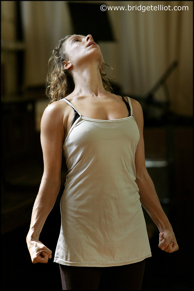 Dancer Kathy Cogill in rehearsal with Force Majeure