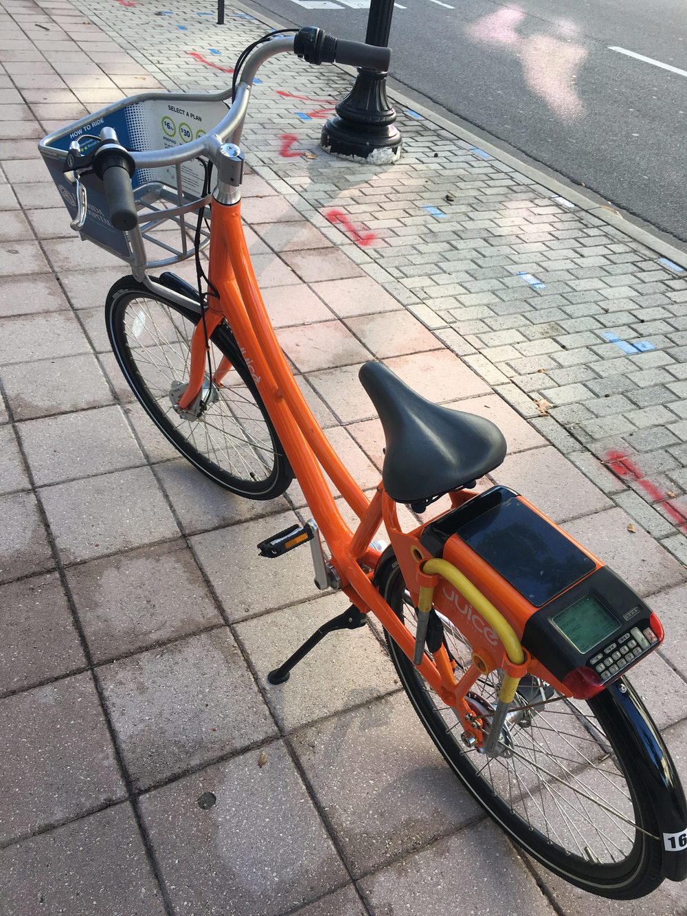 My Juice Bike Share rental.