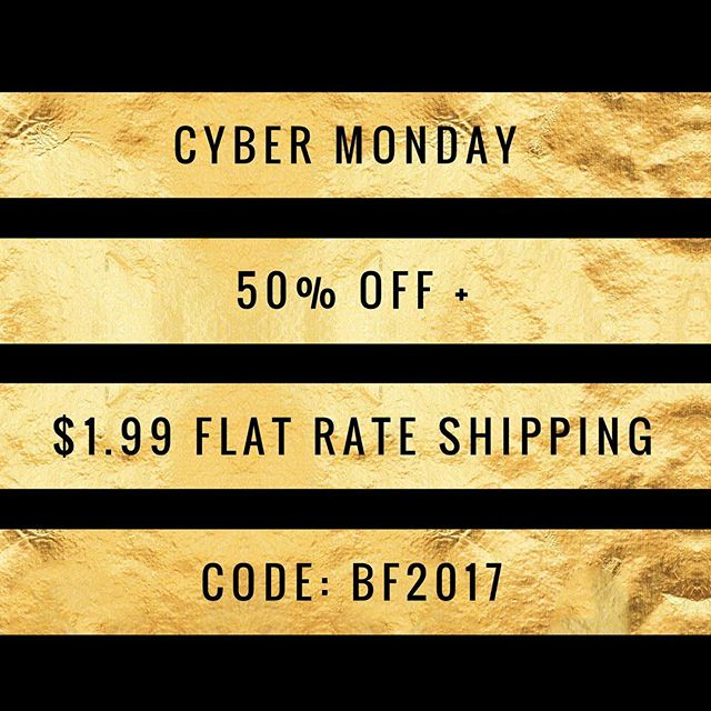 🎄Cyber Monday 🎄  We will NOT be restocking any merchandise. If you have been eyeing something for yourself or for someone else NOW is the time to grab it🎀💛🔻50% Off 🔻$1.99 flat rate shipping 🔻Use Code: BF2017 at checkout