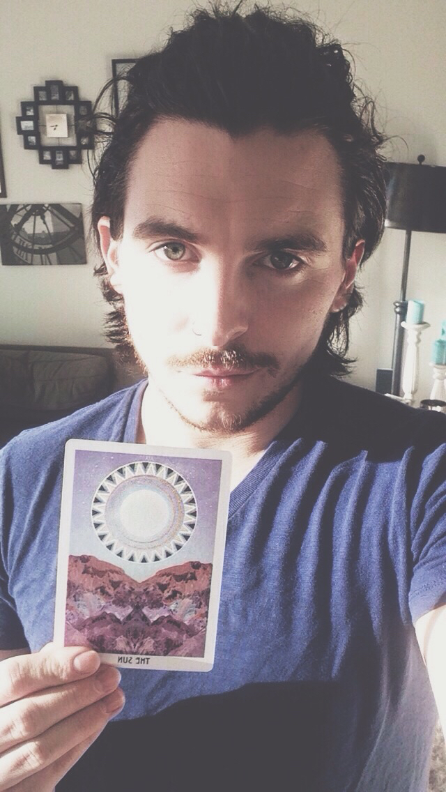 Matt, the magus of Ashes & Wine Tarot, with his SUN card. xox
