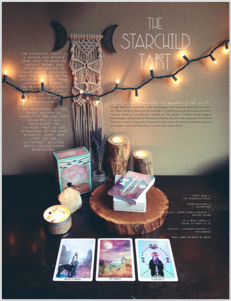 The Starchild Tarot feature in issue #2 of The Bohemian Collective magazine