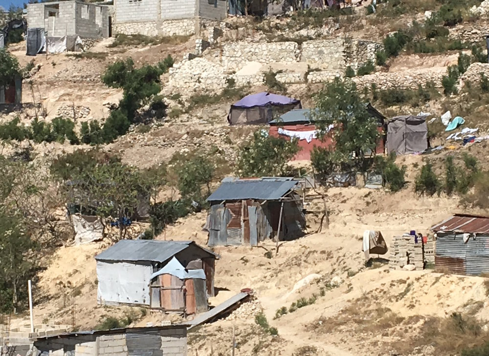 Homes in Canaan, Haiti.