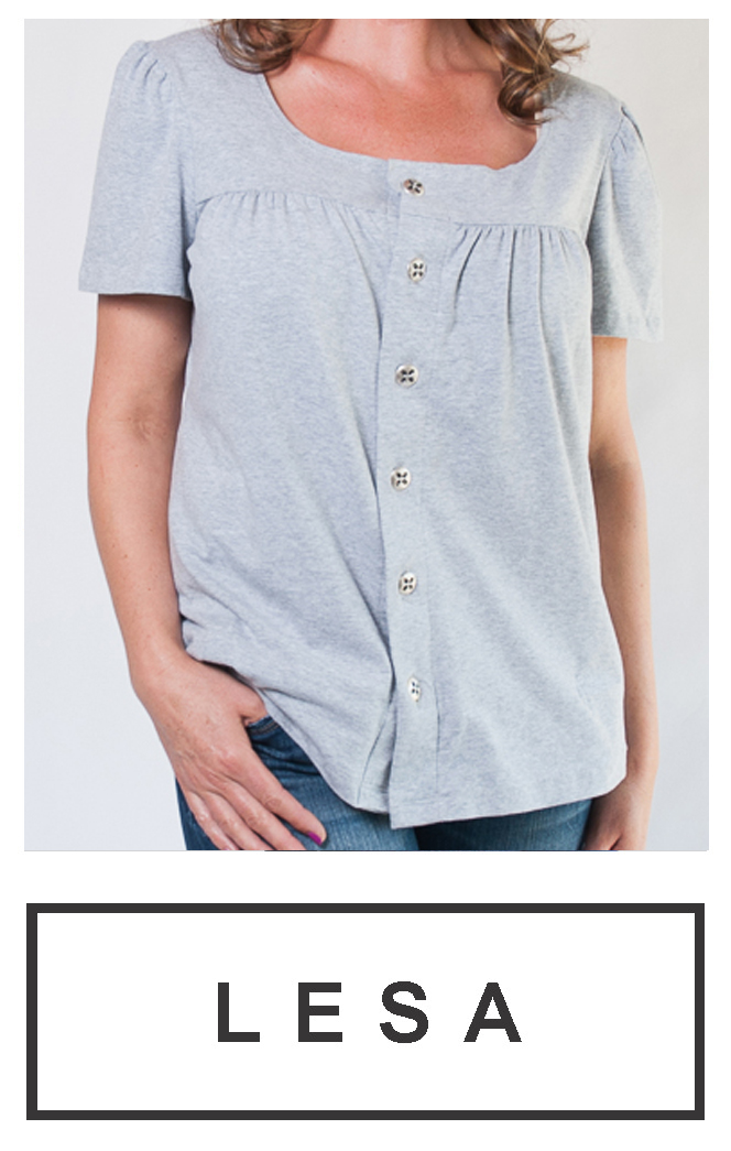 Our short-sleeve button-up top $65.95