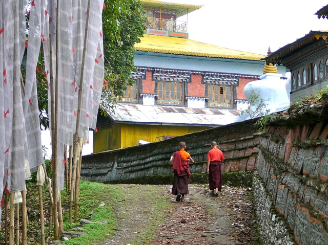 Monks at Tashiding