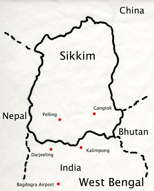 Map of Sikkim
