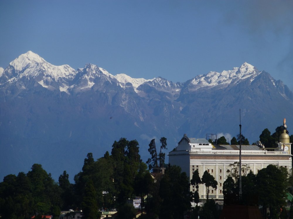 Beautiful Himalayan views from Darjeeling