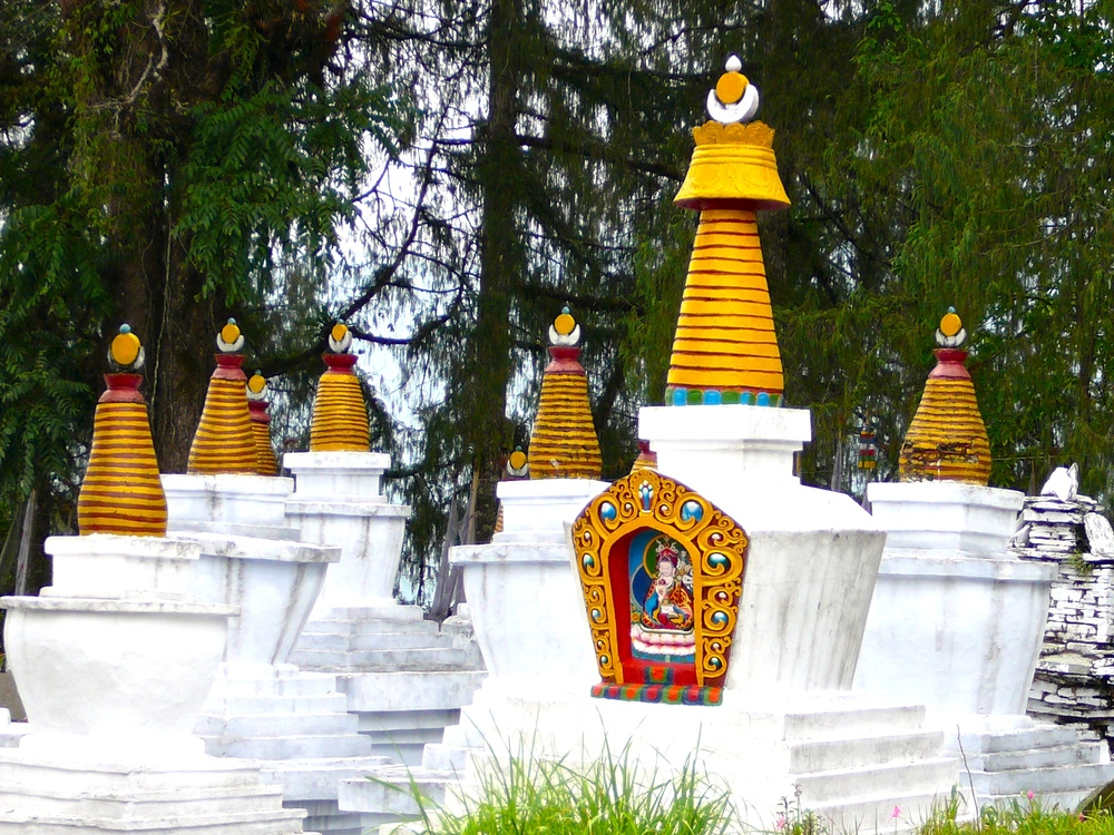 Stupas at Tashiding, Sikkim