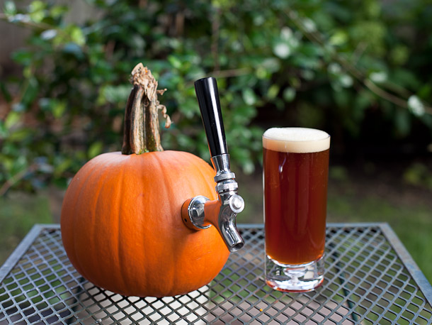 Pumpkin beer, HA! Get it?