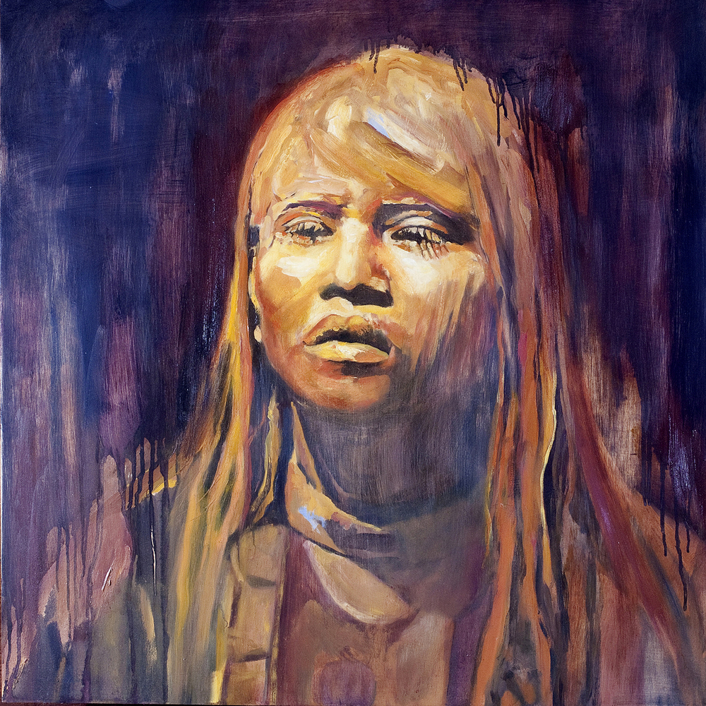 Clay Girl 30 x 30 oil on panel