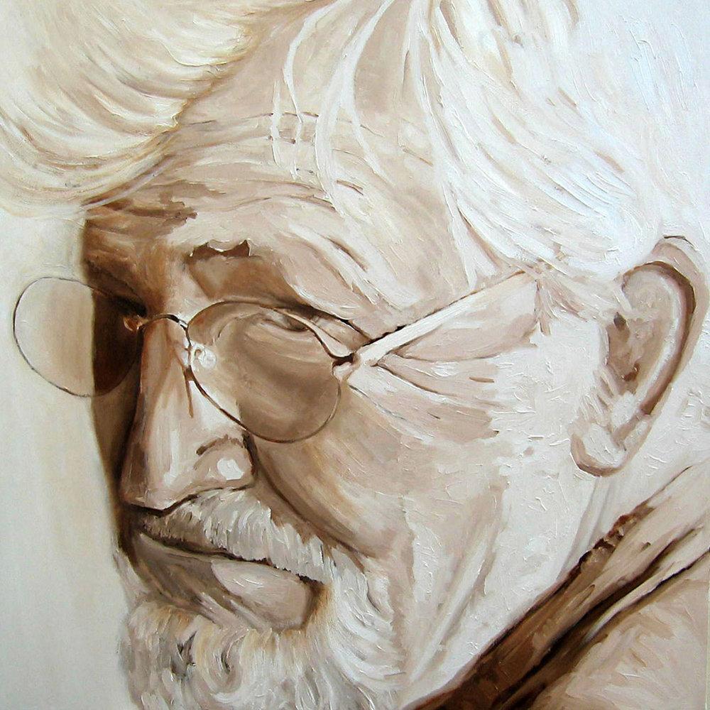 Dad 40 x 40 oil on canvas N/A